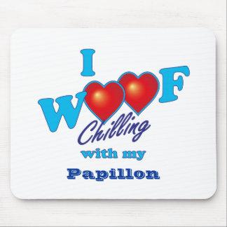 Mim Woof Papillon Mouse Pad