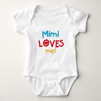 Mimi ama-me t-shirt e presentes body para bebê