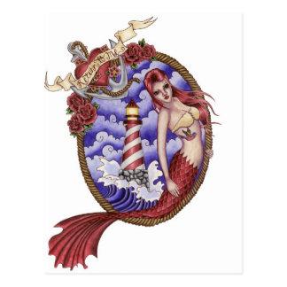 Mina - cartão da sereia do tatuagem