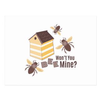 Mina da abelha cartão postal