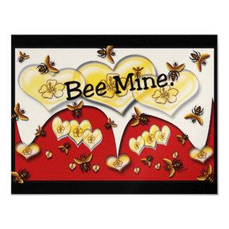 Mina da abelha convite 10.79 x 13.97cm