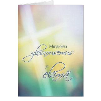Minä olen o ylösnousemus, páscoa religiosa cartão comemorativo