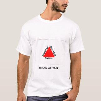 Minas Gerais, bandeira de Brasil Camiseta