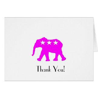 Mindinho o obrigado do elefante do GOP você cartõe Cartão De Nota
