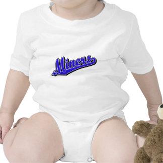 Mineiros no azul macacãozinhos para bebê