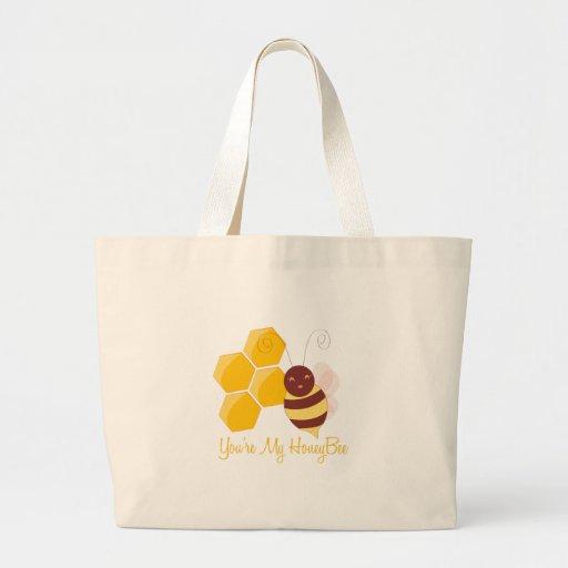 Minha abelha do mel bolsa para compras