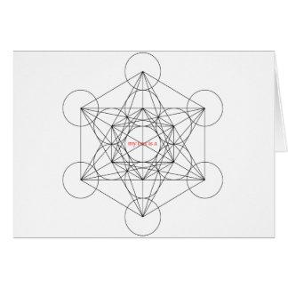minha caixa é… O cubo de Metatron Cartão Comemorativo