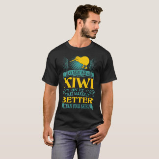 Minha camisa tem um quivi nela melhor do que sua