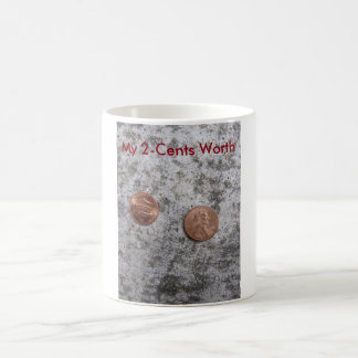 Caneca De Café Minha caneca de café do valor 2-Cents