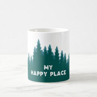 Minha caneca de café feliz do lugar - linha de