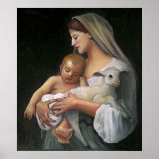 Minha cópia da pintura de BOUGUEREAU: Inocência Pôsteres