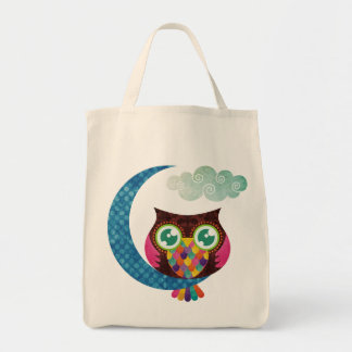Minha coruja crescente sacola tote de mercado