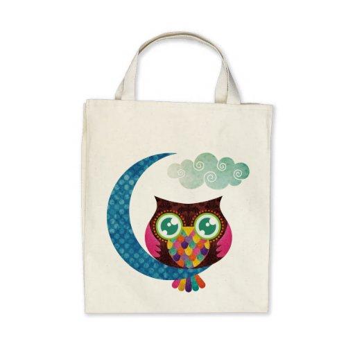 Minha coruja crescente bolsas para compras