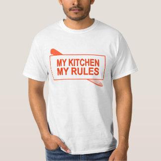 Minha cozinha. Minhas regras. Design do divertimen Camisetas