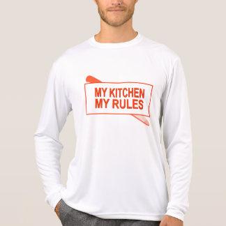Minha cozinha. Minhas regras. Design do T-shirts