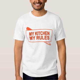 Minha cozinha. Minhas regras. Design do Tshirts