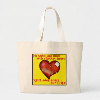 Minha criança era nascida com um coração quebrado bolsa de lona