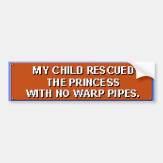 Minha criança salvou a princesa sem as tubulações adesivo para carro