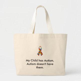 Minha criança tem o saco do autismo sacola tote jumbo