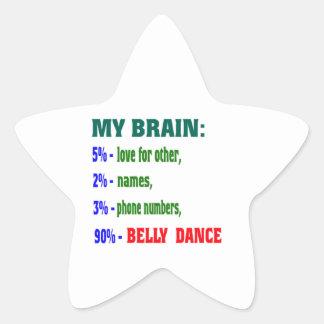 Minha dança do ventre do cérebro 90% adesivos em forma de estrelas