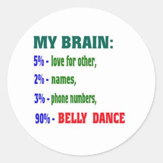 Minha dança do ventre do cérebro 90% adesivo