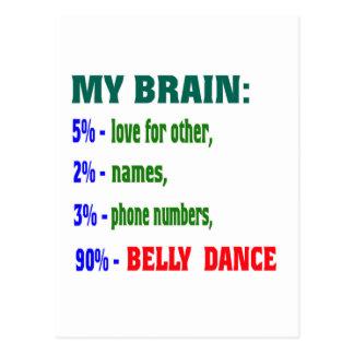 Minha dança do ventre do cérebro 90% cartao postal