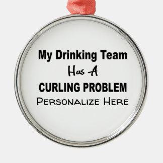 Minha equipe do bebendo tem um ornamento de