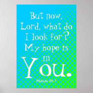 Minha esperança é em você poster do verso da