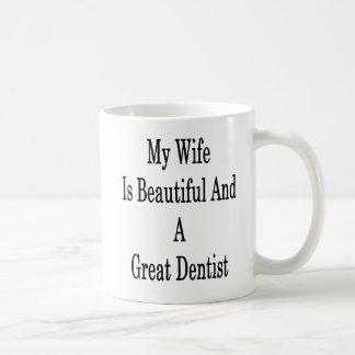 Minha esposa é bonita e um grande dentista caneca de café