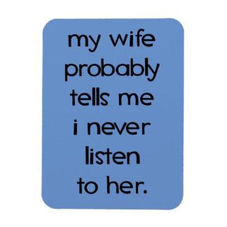 """Minha esposa provavelmente 3"""""""" ímã da foto x4 foto com ímã retangular"""