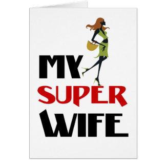 minha esposa super cartão comemorativo