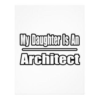 Minha filha é um arquiteto modelos de panfleto