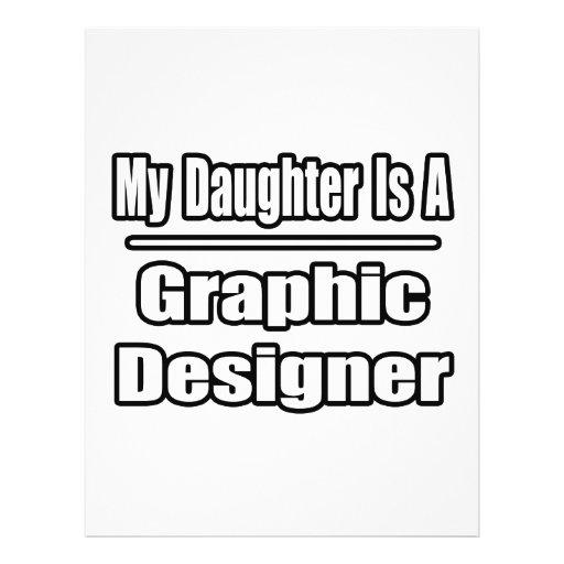 Minha filha é um designer gráfico panfletos personalizado