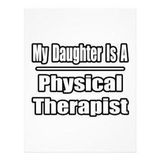 Minha filha é um fisioterapeuta modelo de panfletos