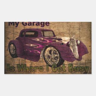 Minha garagem ocupada adesivo retangular