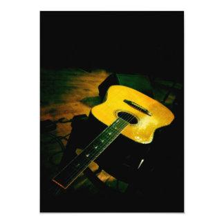 Minha guitarra convite 12.7 x 17.78cm