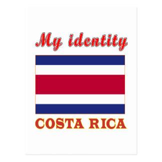 Minha identidade Costa Rica Cartão Postal