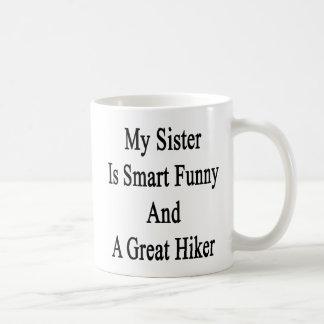 Minha irmã é engraçada esperto e um grande canecas