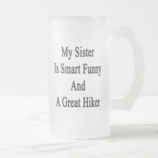 Minha irmã é engraçada esperto e um grande caneca