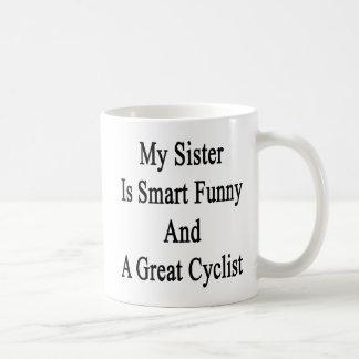 Minha irmã é engraçada esperto e um grande ciclist