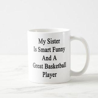 Minha irmã é engraçado esperto e um grande basquet caneca