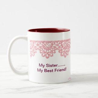 Minha irmã….Meu melhor amigo Caneca De Café Em Dois Tons