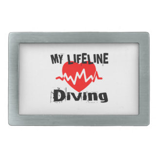Minha linha de vida mergulho ostenta o design