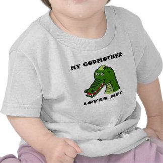 Minha madrinha ama-me jacaré t-shirt