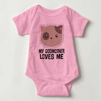 Minha madrinha ama-me t-shirt das meninas do gato body para bebê