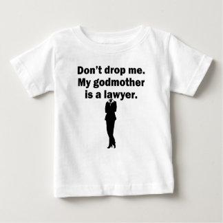 Minha madrinha é um advogado camiseta para bebê