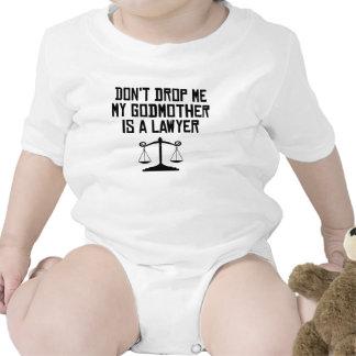 Minha madrinha é um advogado macacãozinho para bebês