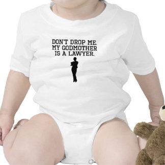 Minha madrinha é um advogado macacãozinho para bebê