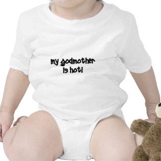 Minha madrinha está quente! macacãozinho para bebês