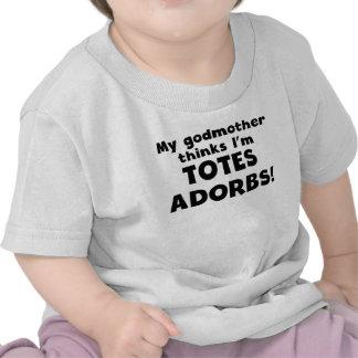 Minha madrinha pensa que eu sou os bolsas Adorbs Camiseta